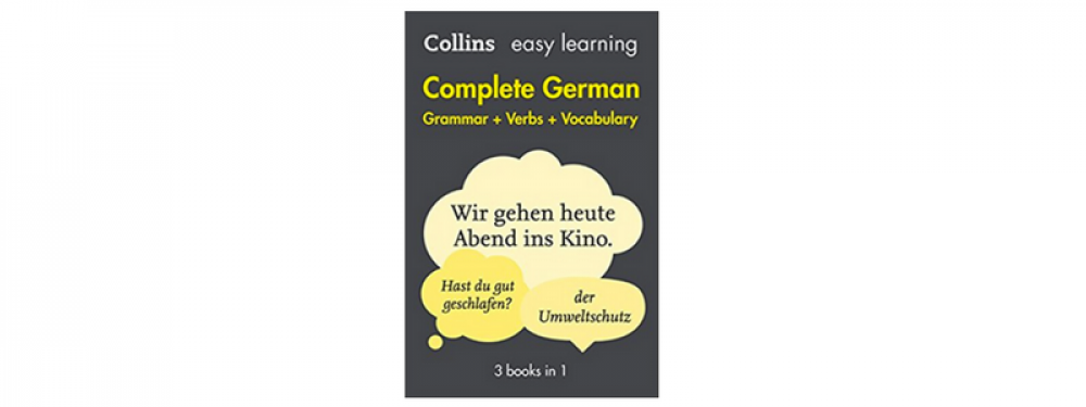 German yellow of verbs the book big
