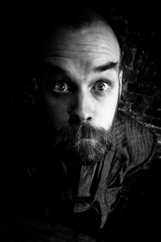 black and white portrait of singer songwriter louis barabbas