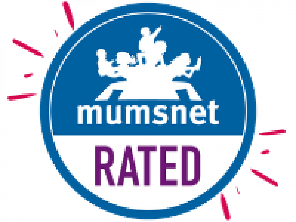 mumsnet logo rated approved blue