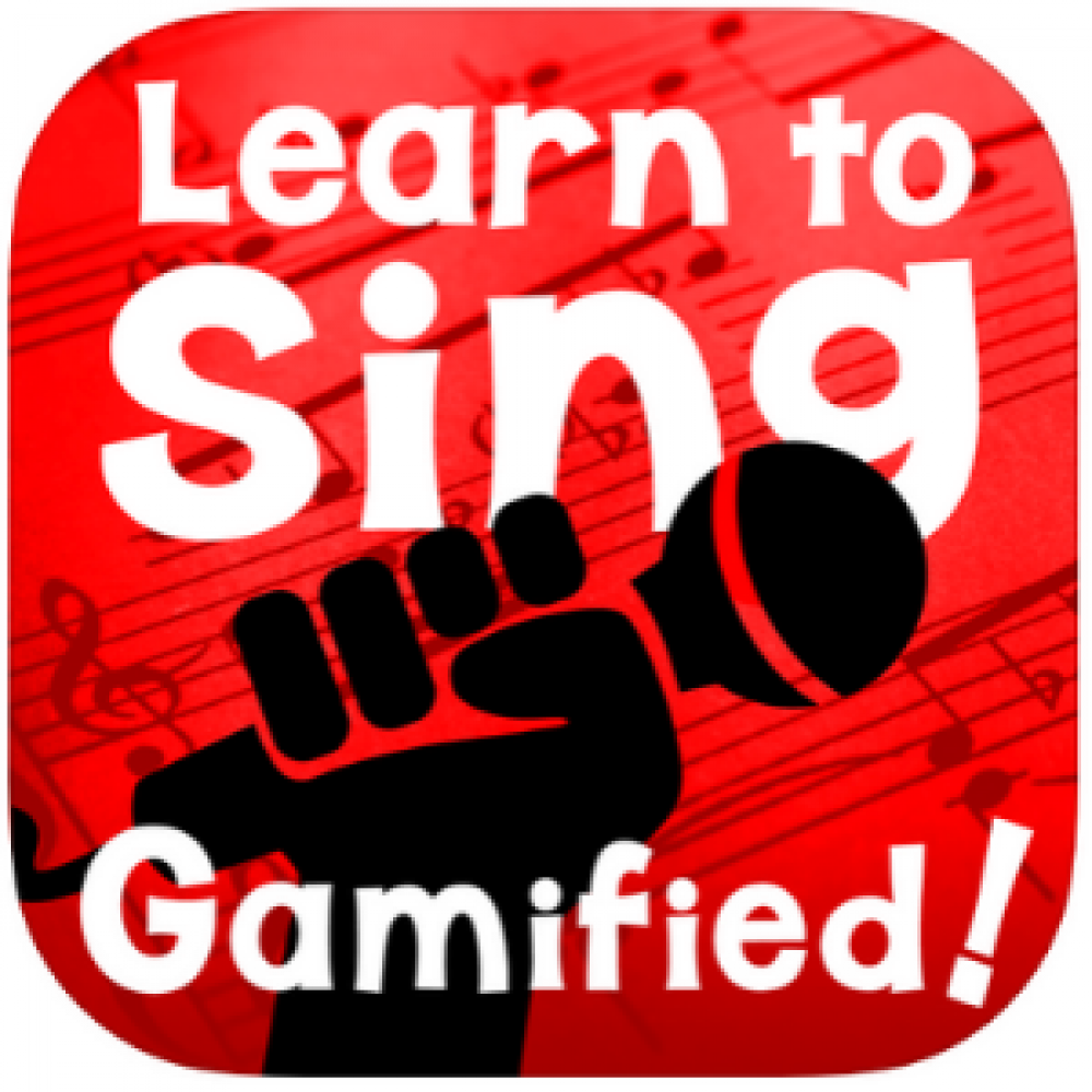 Learn to sing red logo app store