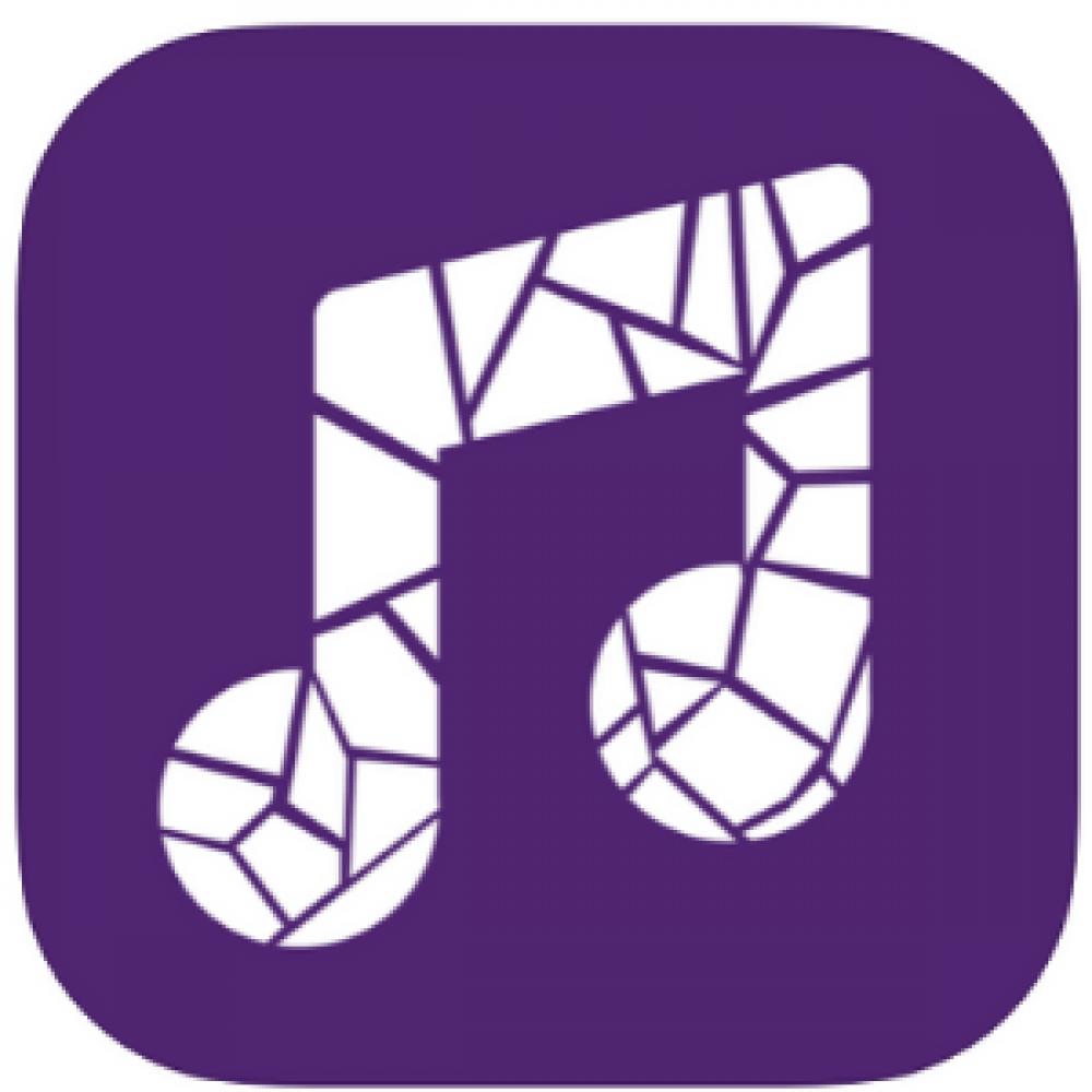 purple music note app store logo