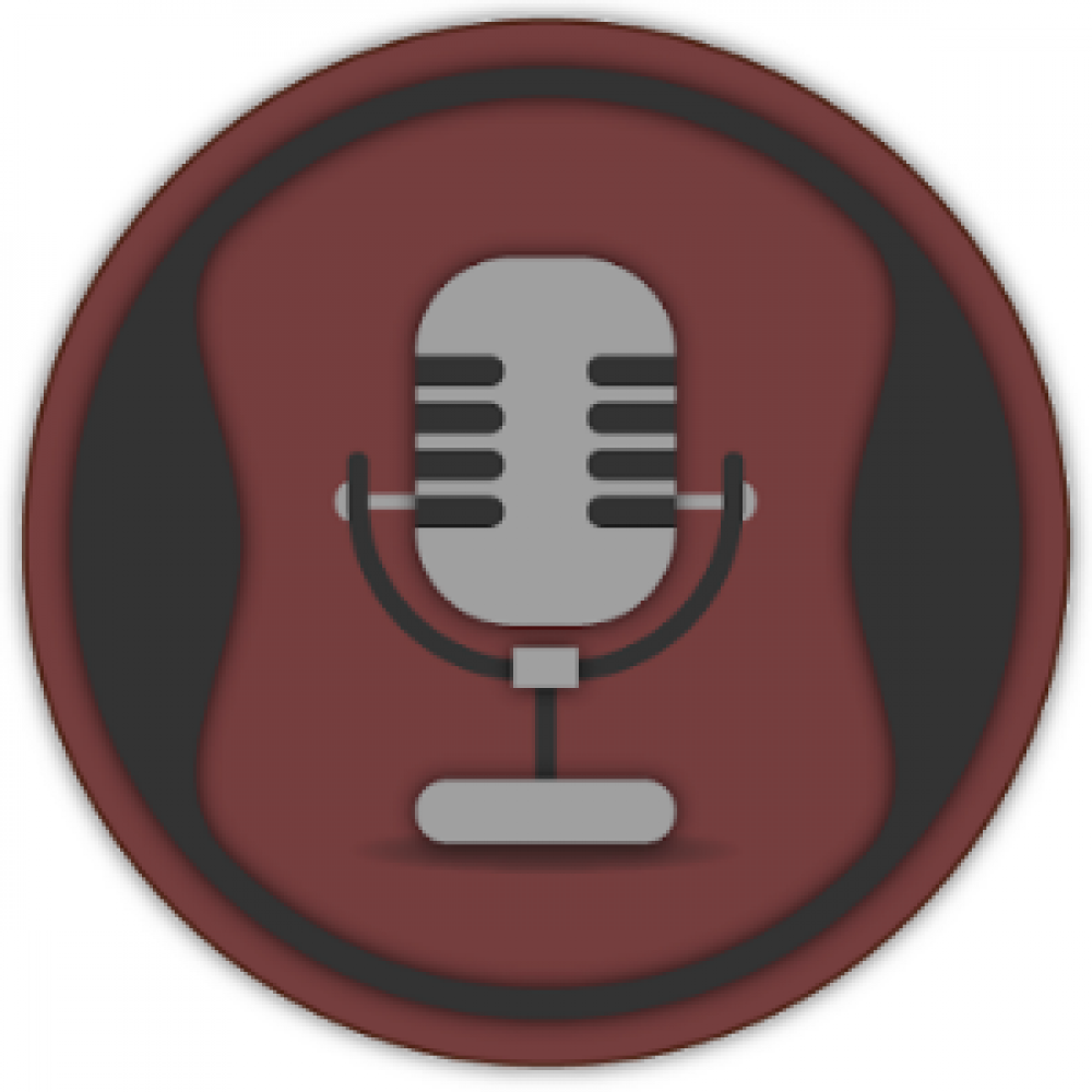 brown cirlce microphone logo app store
