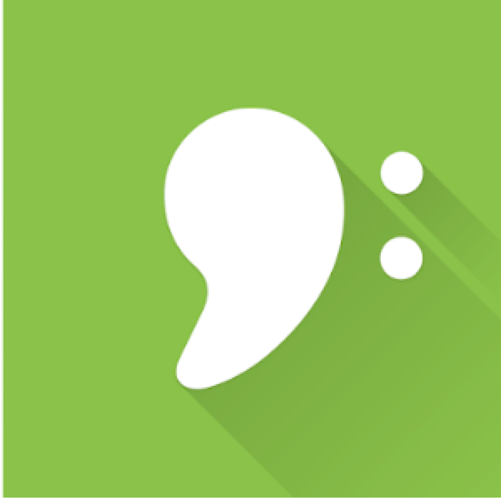 green white ear abstract shape logo app store