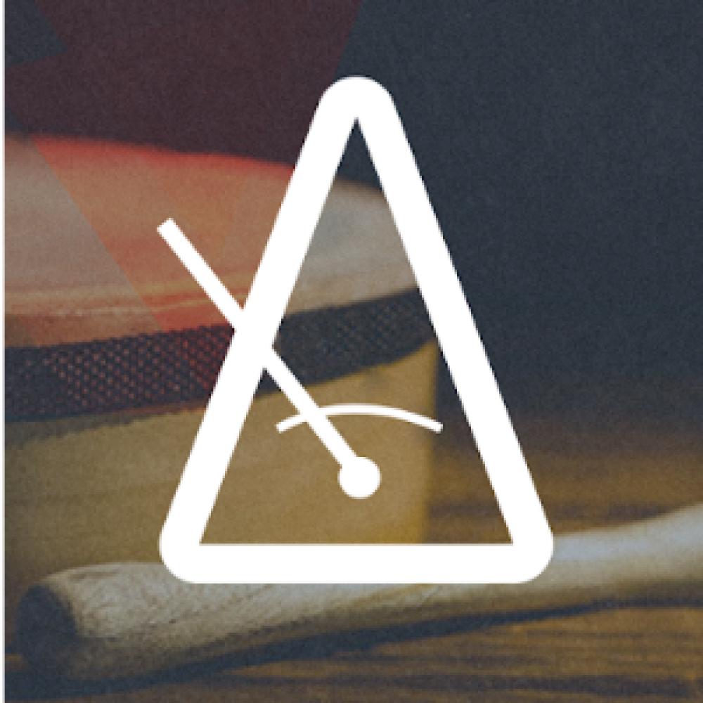 white icon metronome dark background logo app store
