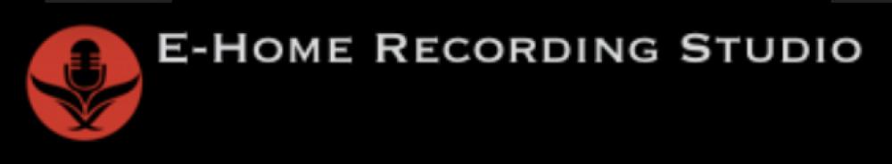 e home recording studio black and orange logo