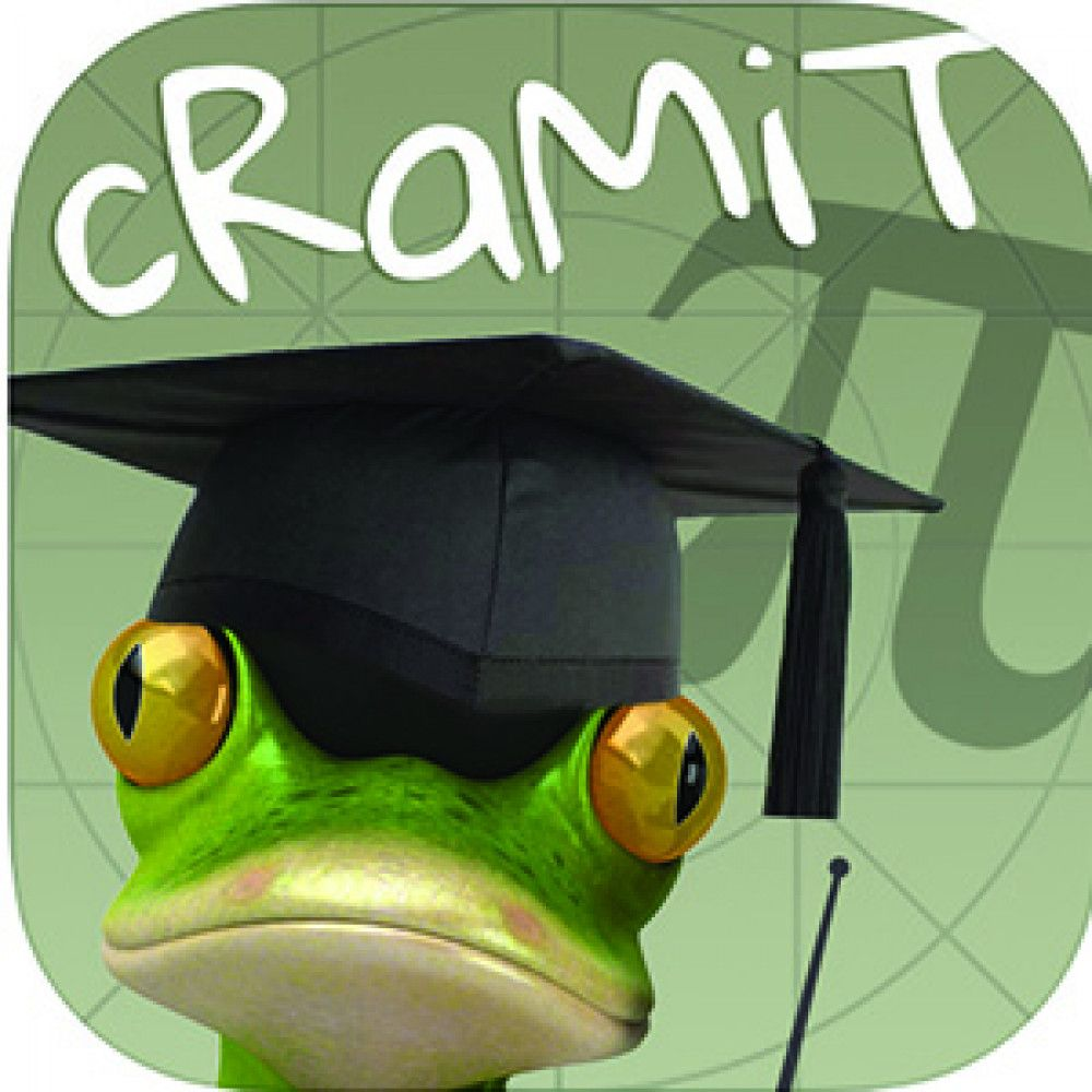 frog lizard green animal mortar board hat pi symbol logo app store