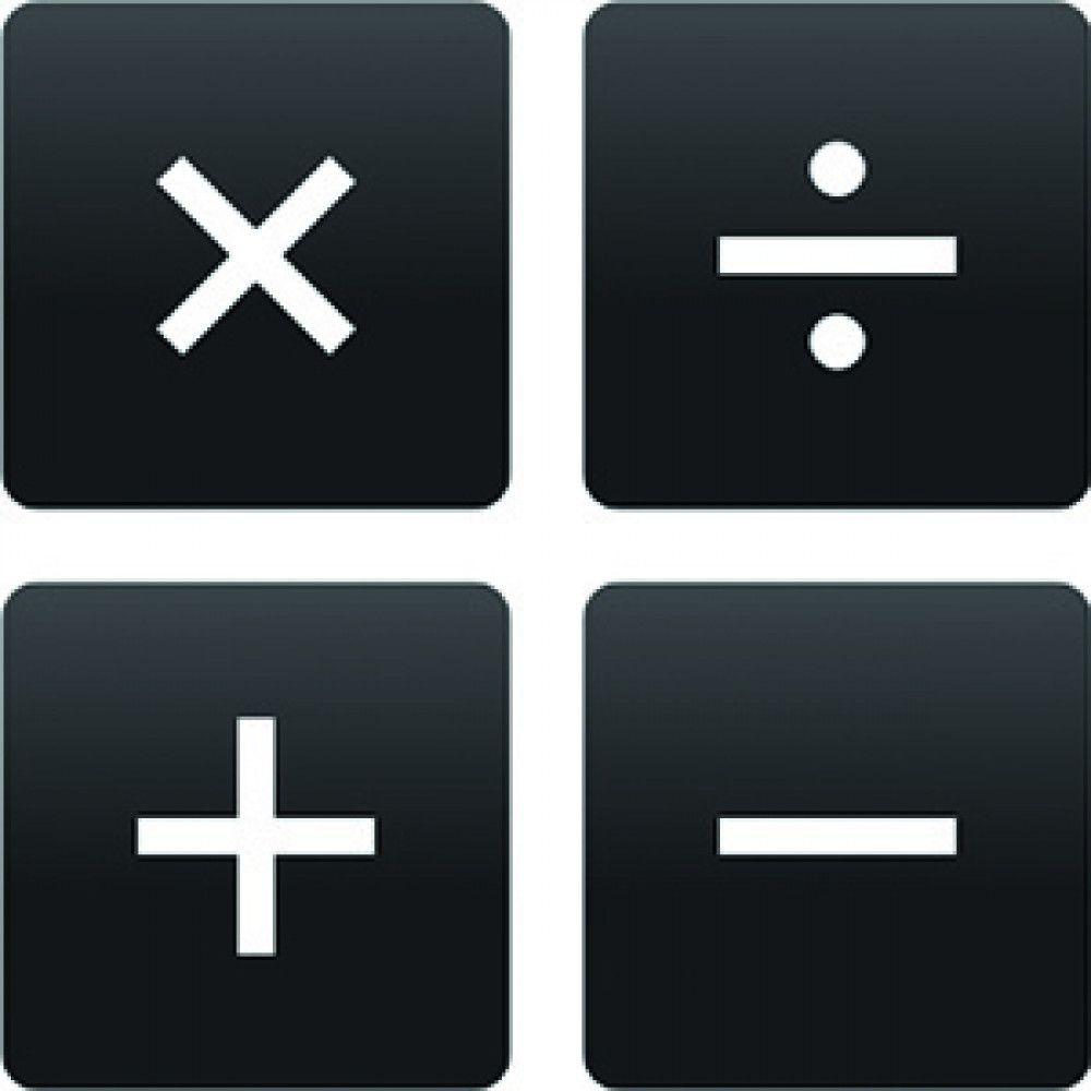 black calculator button maths symbols functions