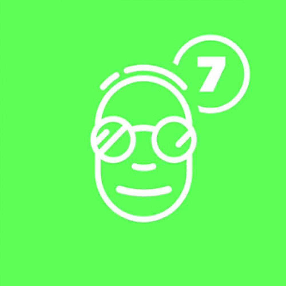 green white face glasses cartoon logo app store