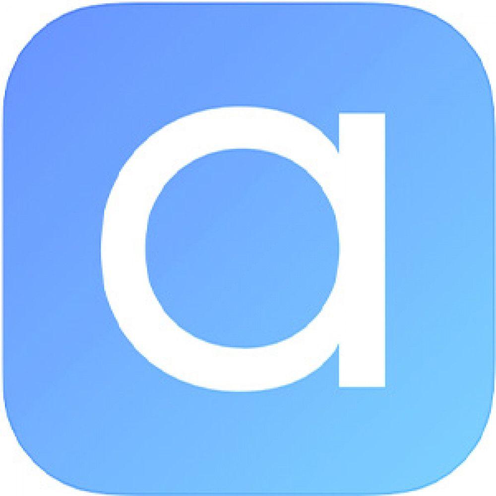 blue gradient lowercase a white  logo app store