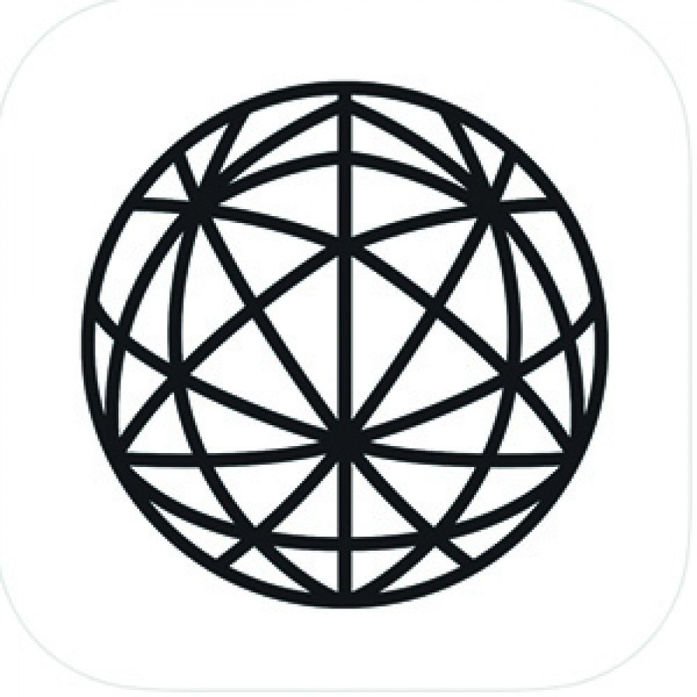 black circle shape mesh logo app store