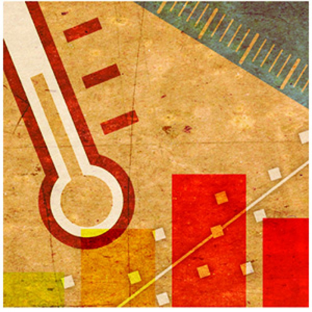maths icons parchment collage