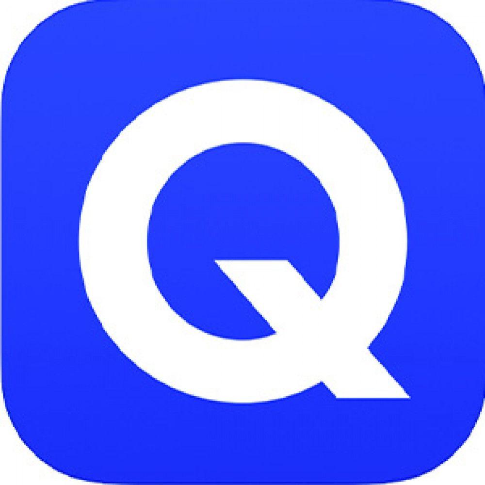 blue square white Q