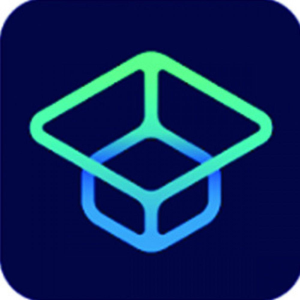 neon mortarboard icon logo