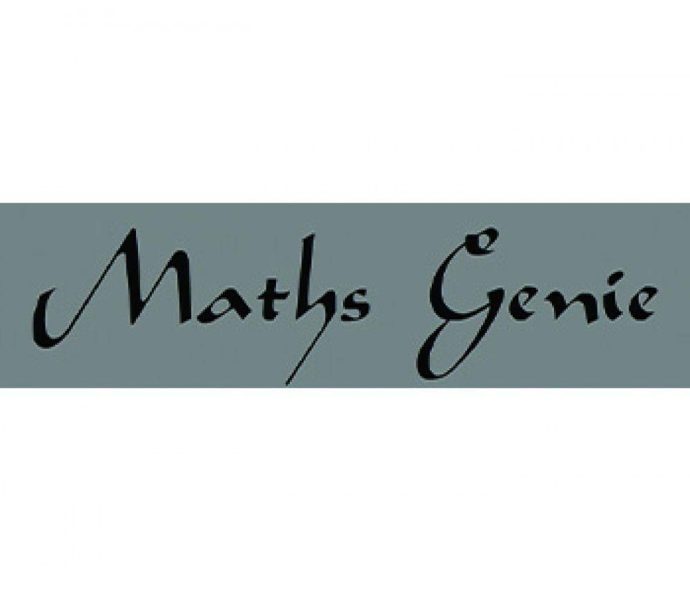 caligraphy font maths genie logo